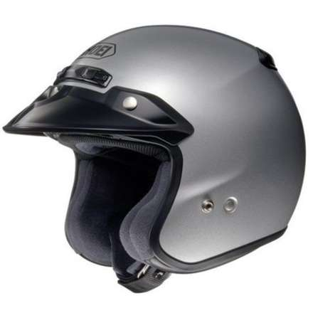 Rj Platinum-r Light Silver Helmet Shoei