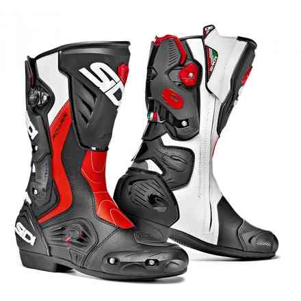 Roarr Black Red Fluo White Boots Sidi