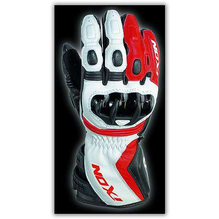 Rs Moto HP Black/White/Red Gloves Ixon