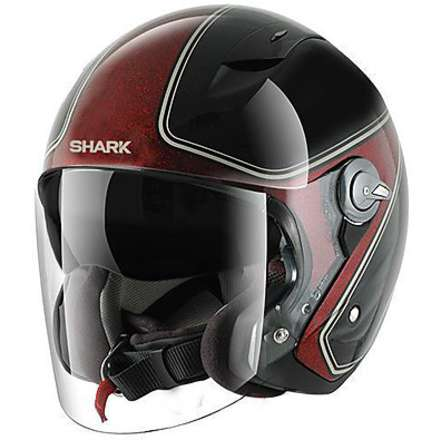 RSJ Sassy Helmet black-red glitter Shark