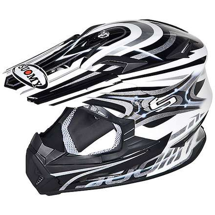 Rumble Vision Silver Helmet Suomy