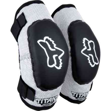 Safety Fox Peewee Titan Elbow Guard  Nero-Argento Fox