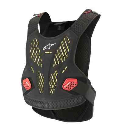 Schutz Sequence Chest Pro Anthrazit Rot Alpinestars