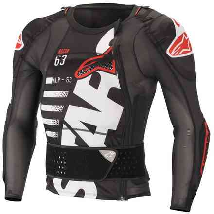 Sequence Protector jacket black white red Alpinestars
