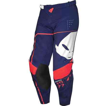 Sharp Blue Red Cross Slim Pants Ufo