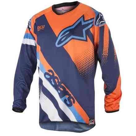 Shirt Racer Supermatic 2018 Blau-Orange-Aqua Alpinestars