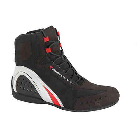 Shoes Motorshoe d-wp black-white-red Dainese