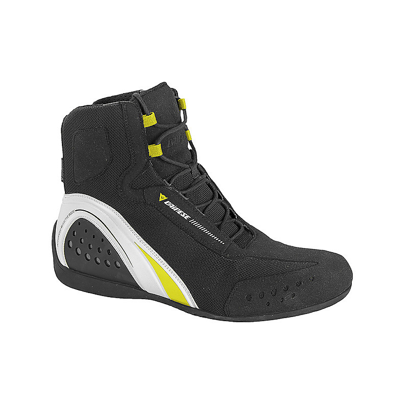 Shoes Motorshoe d-wp black-white-yellow Dainese
