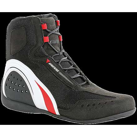 Shoes Motorshoe perforated black-white-red Dainese