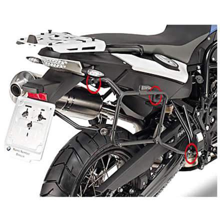 side suitcase rack  BMW F650 GS - F700 GS - F800 GS  08/13 Givi