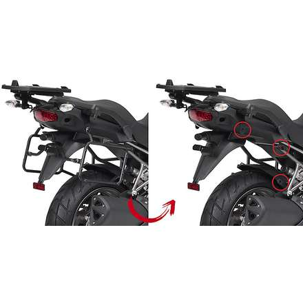 side suitcase rack KAWASAKI VERSYS 1000  10/12 Givi
