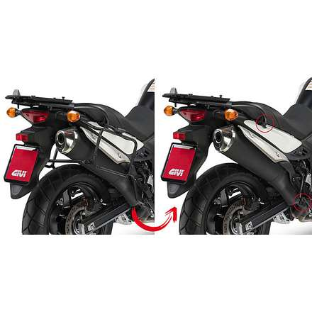 side suitcase rack  SUZUKI DL650 V-STROM  11-16 Givi