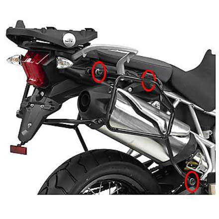 side suitcase rack  TRIUMPH TIGER 800 - XC  11-13 Givi