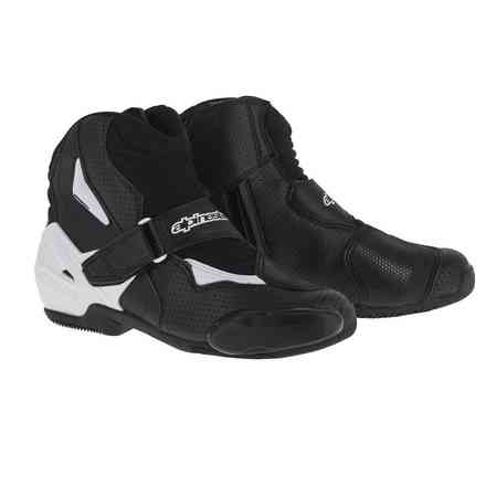 Smx-1 R vented black-white Shoes Alpinestars