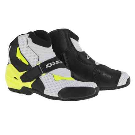 Smx-1 R vented Shoes black-yellow Alpinestars