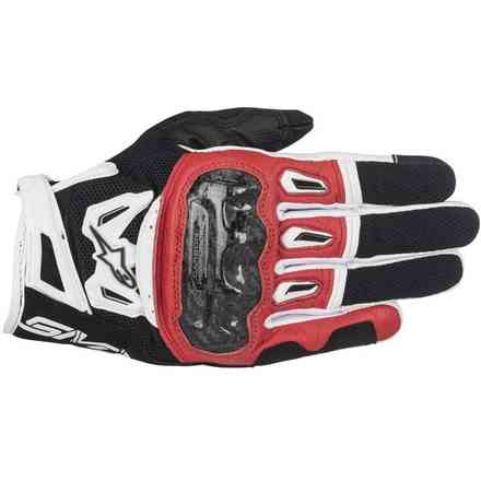 Smx-2 Air Carbon V2 black red white Gloves Alpinestars