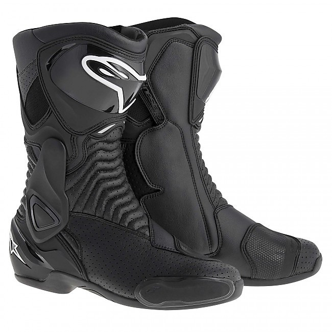 SMX 6 Black Vented Boots Alpinestars