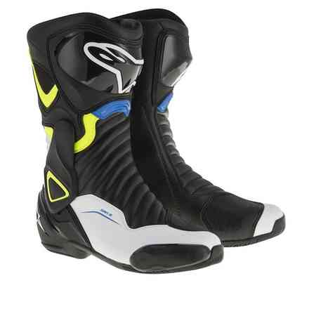 Smx-6 V2 black white yellow fluo blue Boots Alpinestars