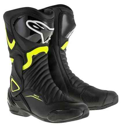 Smx-6 V2 black yellow fluo Boots Alpinestars