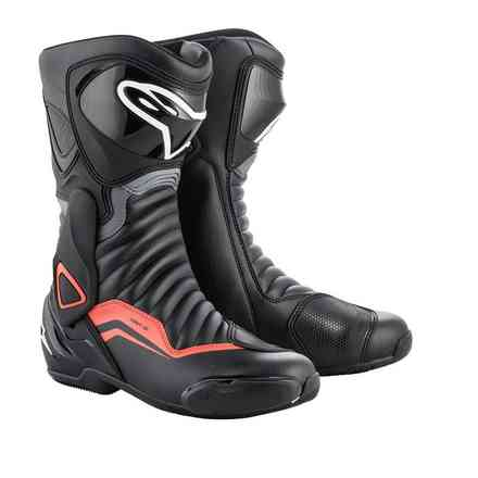 Smx-6 V2 boots black gray red fluo Alpinestars