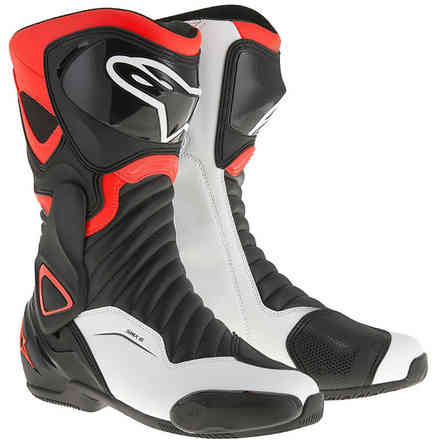 Smx-6 V2 boots  Black Red Fluo White Alpinestars