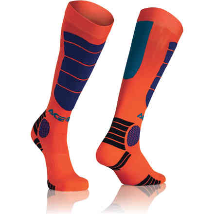 Socks Impact Kid Orange Blue Acerbis