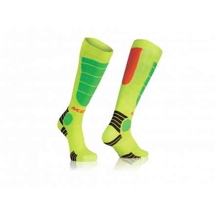 Socks Impact Kid Orange Yellow Acerbis