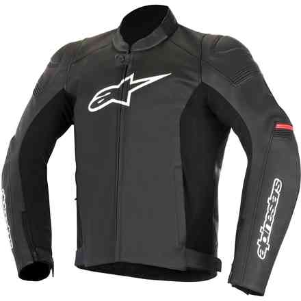 Sp-1 black red Leather Jacket Alpinestars