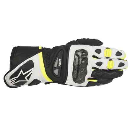 Sp-1  black-white-yellow Gloves Alpinestars