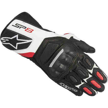 Sp-8 V2 Gloves black white red Alpinestars