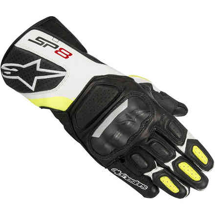 Sp-8 V2 Gloves black white yellow Alpinestars