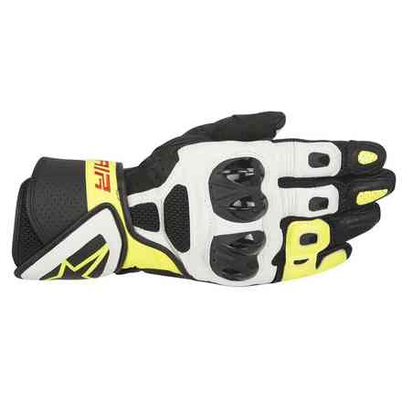 Sp Air black-white-yellow fluo Gloves Alpinestars