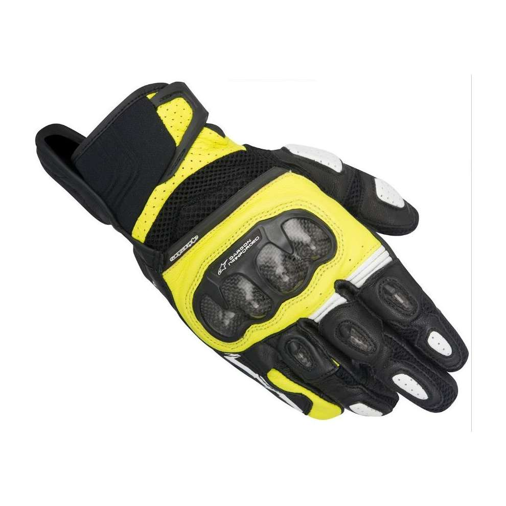 Sp-x  Air Carbon black-yellow fluo Gloves Alpinestars