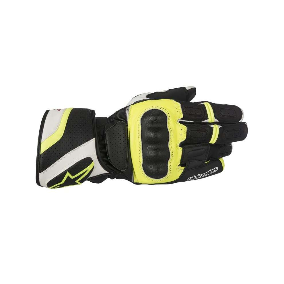 Sp Z Drystar black white yellow Gloves  Alpinestars