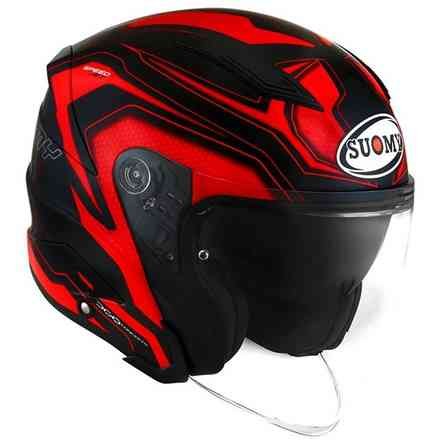 Speedjet Ready Helm Rot Suomy