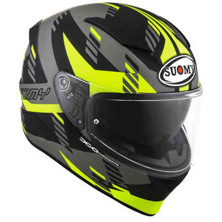 Speedstar Flow Matt yellow fluo grey helmet Suomy
