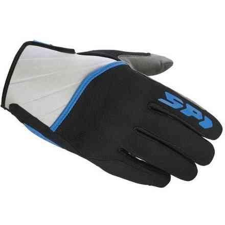 Squared black blue Gloves Spidi