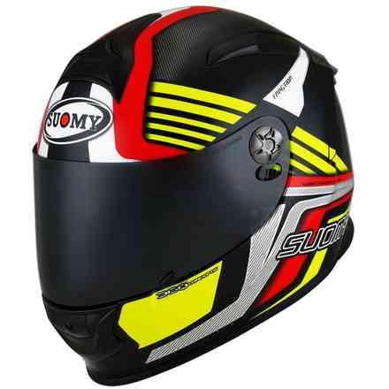 Sr-Sport Attraction Helm Rot / Gelb Suomy