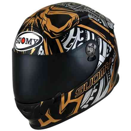 Sr-Sport Crossbones Gold Helm Suomy