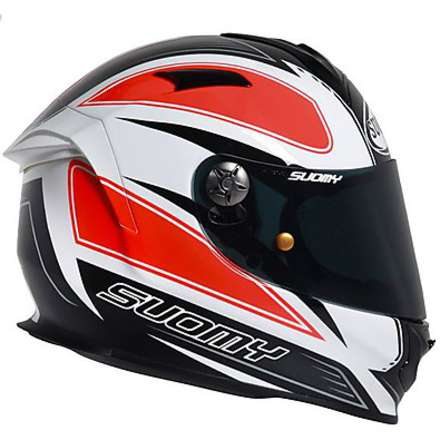 SR Sport Shape Orange Helmet Suomy