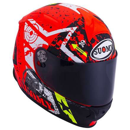 SR Sport  SR Sport Stars Orange Helmet Suomy