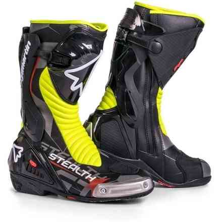 Stealth Evo Shoes Black / Fluo Yellow Stylmartin