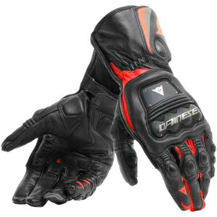 Steel-Pro gloves black red fluo Dainese
