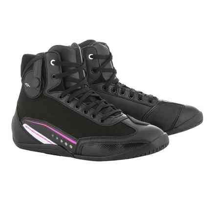 Stella Ast-1 shoes black white fuxia Alpinestars