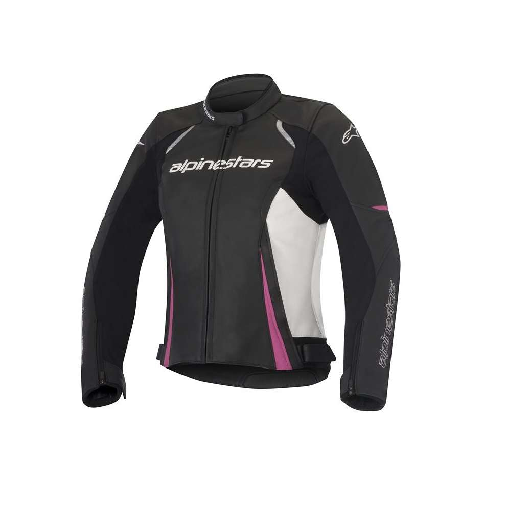 Stella Devon Leather black-white-pink Jacket  Alpinestars