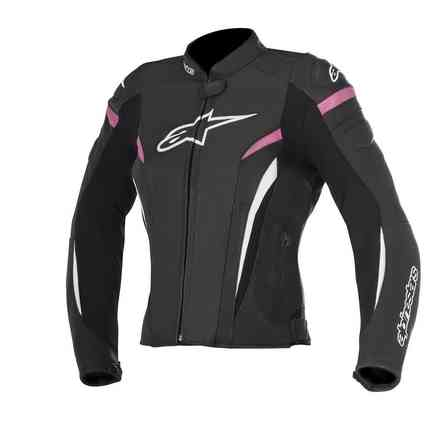 Stella Gp Plus R V2 Airflow black fuchsia Lether Jacket Alpinestars