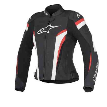 Stella Gp Plus R V2 Airflow black white red Lether Jacket Alpinestars