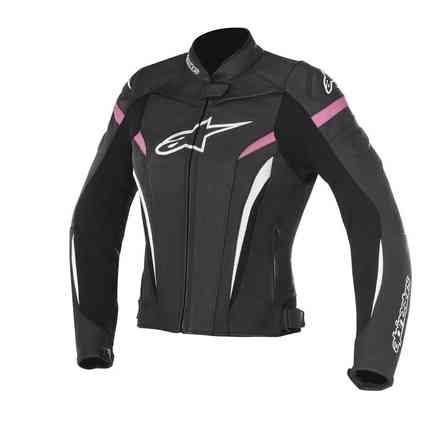 Stella Gp Plus R V2 black fuchsia Leather Jacket Alpinestars