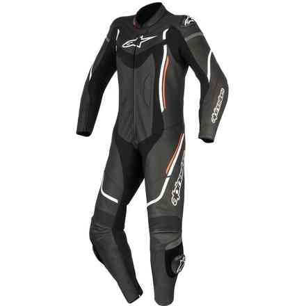 Stella Motegi V2 1pc lady Leather Suit black white red Alpinestars