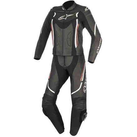 Stella Motegi V2 2pc black white red lady Suit  Alpinestars